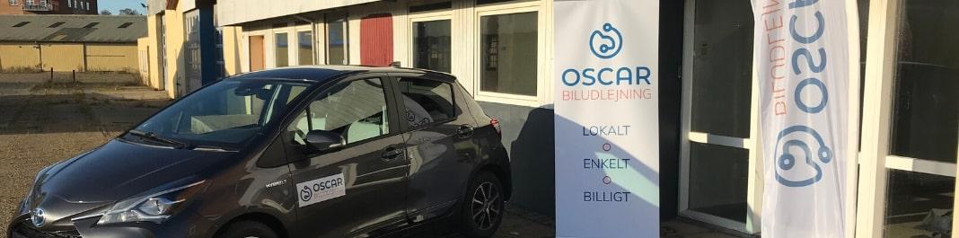The facade of Oscar Car Rental Skive