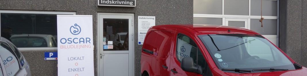 The facade of Oscar Car Rental Valby