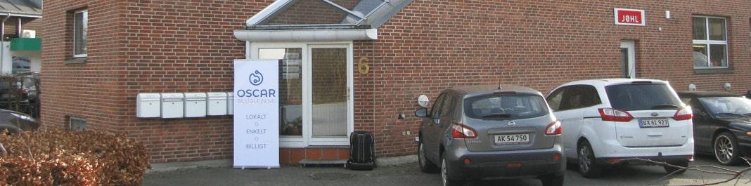 The facade of Oscar Car Rental Lyngby