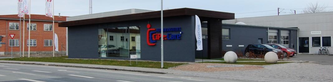 Facaden af Oscar Biludlejning Odense C