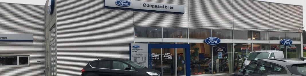 Facaden af Oscar Biludlejning Nykøbing Falster