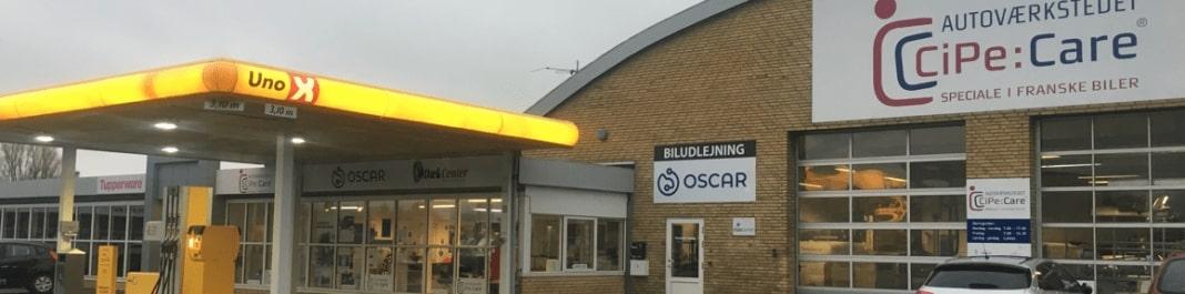 Facaden af Oscar Biludlejning Aarup