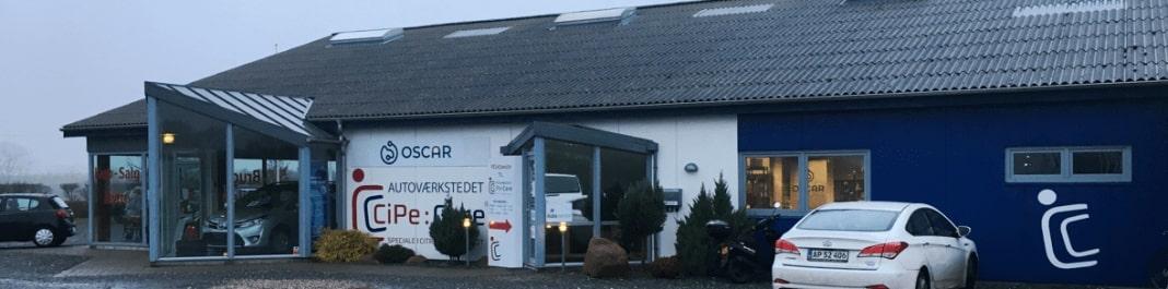 Facaden af Oscar Biludlejning Nyborg