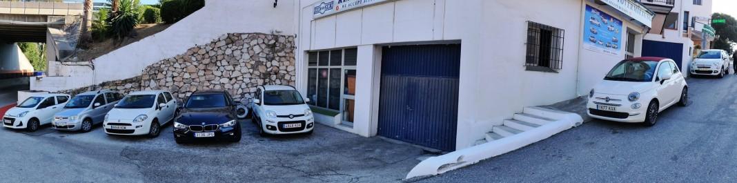 La fachada de Oscar Alquiler de coches Calahonda
